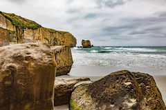 Tunnel Beach New Zealand Royalty Free Stock Images