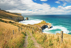 Tunnel Beach, New Zealand Royalty Free Stock Photo
