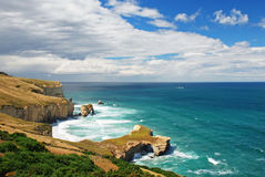 Tunnel Beach, New Zealand Royalty Free Stock Photography