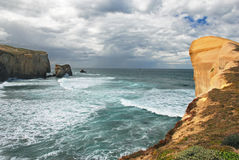 Tunnel Beach, New Zealand Stock Image