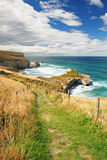 Tunnel Beach, New Zealand Royalty Free Stock Image