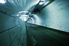 Tunnel below Thames river Royalty Free Stock Photos