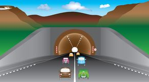 Tunnel in bergen Royalty-vrije Illustratie