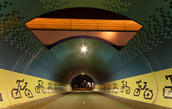 Tunnel for bicycles Royalty Free Stock Images