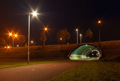 Tunnel for bicycles Stock Photography