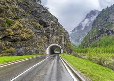 Tunnel bij Simplon-pas stock afbeeldingen