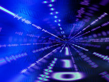 Tunnel binaire Photo libre de droits