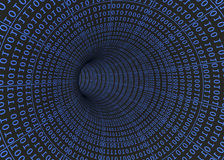 Tunnel of Binary Numbers - 3D Stock Photo