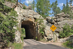 Tunnel in the Black Hills Stock Photos