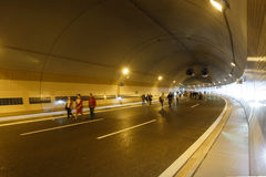 Tunnel Blanka Arkivbild