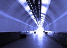 Tunnel bleu Images libres de droits