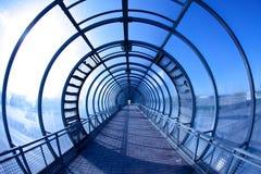 Tunnel bleu Photo libre de droits
