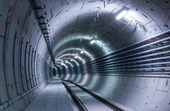 Tunnel blu Fotografie Stock