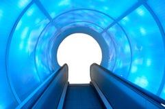 Tunnel blu Fotografia Stock