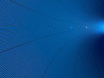 Tunnel blu Immagine Stock