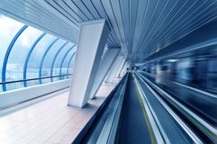 Tunnel in blue Royalty Free Stock Photography