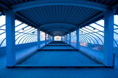 Tunnel in blue Stock Images