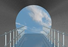 Tunnel and Blue Sky Royalty Free Stock Photography