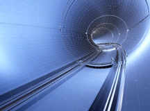 Tunnel blueprint Stock Images