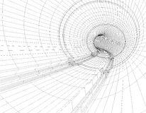Tunnel blueprint. 3d illustration of drawing tunnel blueprint Royalty Free Stock Image