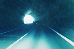 Tunnel blurry driving abstract Stock Photography