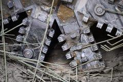 Tunnel boring machine in actie stock fotografie