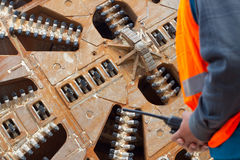 Tunnel boring machine cutter head Stock Images