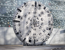 Tunnel boring machine head Stock Image