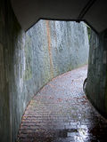 Tunnel brick footpath Royalty Free Stock Photography