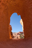 Tunnel in Bryce Canyon National Park Royalty Free Stock Photography
