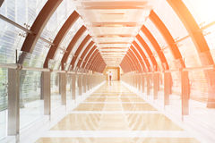 Tunnel building with glass wall Royalty Free Stock Images