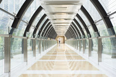 Tunnel building with glass wall Stock Photography