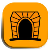 Tunnel button. Can be use like traffic icon for maps or web Vector Illustration