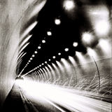 Tunnel in BW Royalty Free Stock Images
