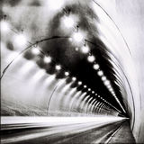 Tunnel in BW Royalty Free Stock Photography