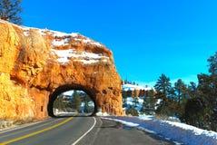 Tunnel through canyon Stock Photos