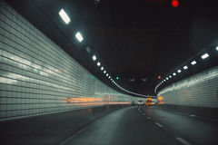 Tunnel car driving motion blur. Stock Images