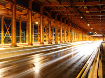 Tunnel with car light Royalty Free Stock Photo