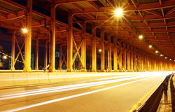 Tunnel with car light Royalty Free Stock Images