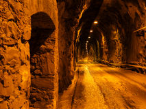 Tunnel with car stock image