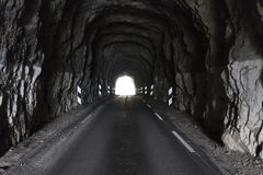 Tunnel for cars in norway, europe royalty free stock images