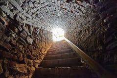 Tunnel through castle Stock Photo