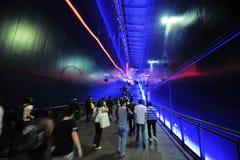 Tunnel-Chinese Expo 2010 het Paviljoen van de stadsmensen van Shanghai Royalty-vrije Stock Afbeeldingen