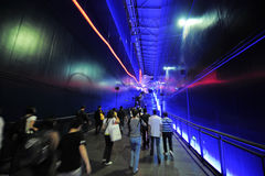 Tunnel-Chinese Expo 2010 Shanghai city people Pavilion Royalty Free Stock Images