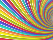 Tunnel of colored lines Stock Photo