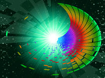 Tunnel Colourful Shows Deep Space And Astronomy Royalty Free Stock Photo