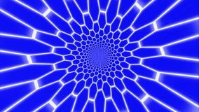 Tunnel con la griglia fluorescente cilindrica illustrazione vettoriale