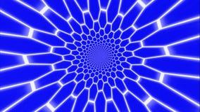 Tunnel con la griglia fluorescente cilindrica illustrazione di stock