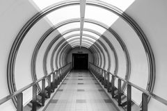 Tunnel connecting two shopping malls in Bangkok, Thailand Royalty Free Stock Photo