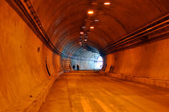 Tunnel construction indoor near the exit Stock Photos